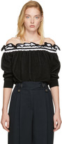 3.1 Phillip Lim Black Ruffled Off-the-Shoulder Sweater