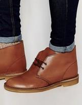Clarks Originals Leather Desert Boots