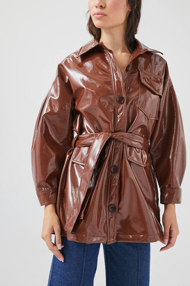 Tach Clothing Carioca Patent Trench Coat