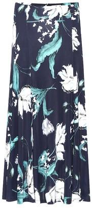 Erdem Vesper floral jersey skirt