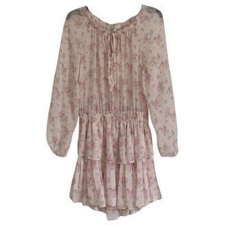 LoveShackFancy Pink Silk Dresses