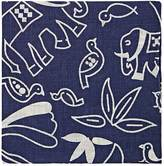 Barneys New York MEN'S ANIMAL- & FLORAL-PRINT LINEN POCKET SQUARE