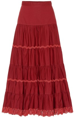 Ulla Johnson Fleet cotton maxi skirt