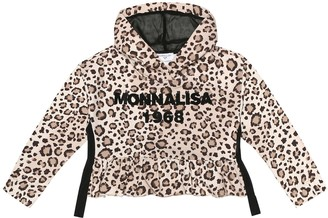 MonnaLisa Logo stretch-cotton hoodie
