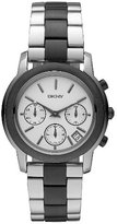 DKNY Women's 40mm Chronograph Silver Steel Bracelet & Case Quartz Watch NY8328