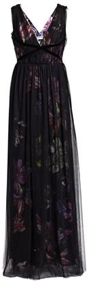 Chiara Boni Nachelle Floral Print Tulle Layered Gown