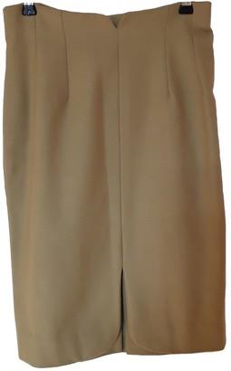 Emmanuelle Khanh Green Wool Skirt for Women Vintage