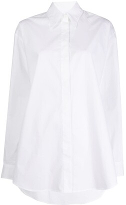 MM6 MAISON MARGIELA Printed High-Low Hem Shirt