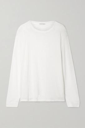 Frances De Lourdes Marlon Slub Cashmere And Silk-blend Top