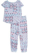 Splendid Girl's Print Cross Back Tee & Pants Set
