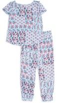 Splendid Girl's Print Cross Back Tee & Pants Set