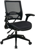 Office Star Space Seating 67 Series 67-77N9g5 Professional Airgrid Back & Seat Managers Chair W/ Flip Arms & Angled Nylon Base