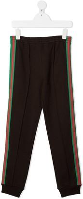 Gucci Kids Logo Stripe Sweatpants