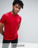 Reclaimed Vintage Inspired Velour Fitted T-shirt