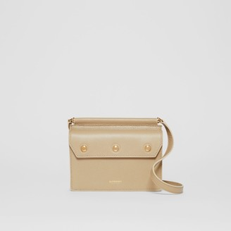 Burberry Mini Leather Title Bag with Pocket Detail
