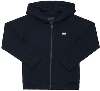 Emporio Armani Zip-Up Cotton Sweatshirt Hoodie