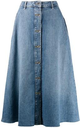 Liu Jo Buttoned Denim Midi Skirt