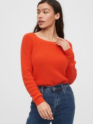 Gap Shaker Stitch Boatneck Sweater