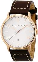 Ted Baker Men's TE1121 Modern Vintage Collection Custom Leather Strap Date Watch