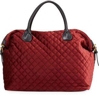 Neiman Marcus Quilted Velvet Weekender Travel Bag
