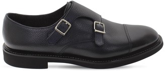 Doucal's Double Buckle Leather Shoes
