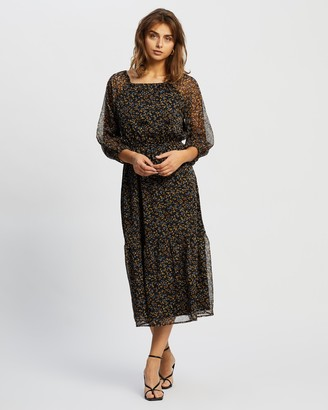 Atmos & Here Atmos&Here - Women's Black Midi Dresses - IMen's Midi Dress - Size 6 at The Iconic