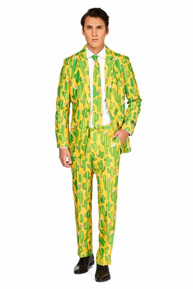 Suitmeister Suits for Men in Fun Prints Full Set: Includes Jacket Pants and Tie