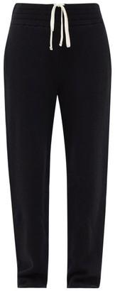 LES TIEN Cashmere Relaxed-leg Track Pants - Black