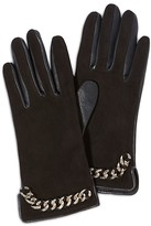 Karen Millen Leather Chain Gloves