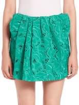 No.21 Giorgina Embroidered Mini Skirt