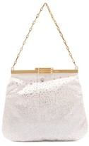 Bienen Davis Bienen-davis - 4am Crystal & Satin Clutch Bag - Womens - Ivory