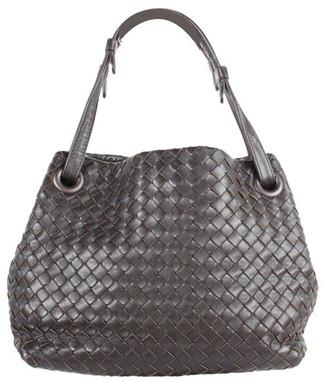 Bottega Veneta Brown Nappa Intrecciato Leather Small Tote Bag
