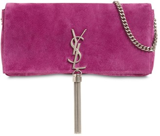 Saint Laurent Kate 99 Baguette Suede Bag W/tassel