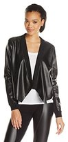 BCBGMAXAZRIA Women's Madilyn Pleather Cardi Wrap