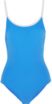 Tory Burch Laurito Swimsuit - Light blue