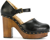 L'Autre Chose platform pumps - women - Calf Leather/Leather/Sheep Skin/Shearling/Foam Rubber - 36