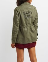 Charlotte Russe Baby Girl Distressed Anorak Jacket