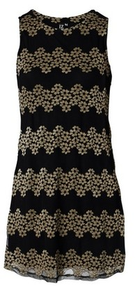 Dorothy Perkins Womens *Izabel London Gold Floral Print Lace Shift Dress, Gold