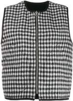 YMC checked cropped waistcoat
