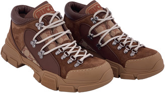 Gucci Flashtrek Brown Suede Trainers