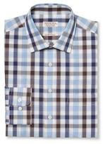 Merona Men's Ultimate Dress Shirt Blue Check