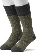 Croft & Barrow Men's 2-pack Marled Cold-Weather Crew Boot Socks