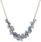 Ten Thousand Things Beaded Center Spiral Cluster Blue Sapphire Necklace