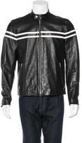 Vince Striped Leather Jacket