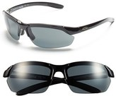 Smith Optics Women's 'Parallel Max' 65Mm Polarized Sunglasses - Black/ Polar Grey/ Clear
