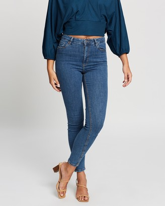 Mng Women's Blue High-Waisted - Jeans Noa - Size 32 at The Iconic