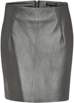 Oxford Metallic Leather Skirt