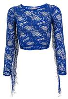 Luli Fama Blue Long Sleeves Top Wanted And Wild.