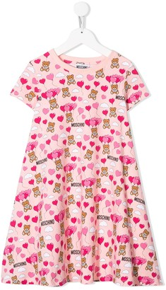 MOSCHINO BAMBINO TEEN all over print dress