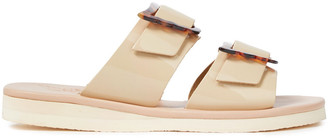 Ancient Greek Sandals Iaso Buckled Patent-leather Slides